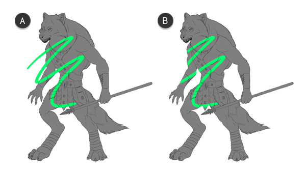 character design concept outline clipping mask 11