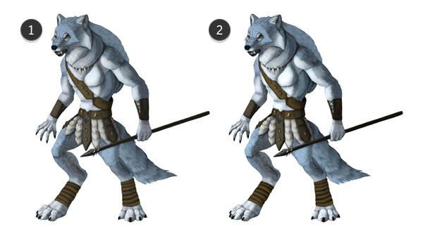 character design concept photoshop contrast fix 2