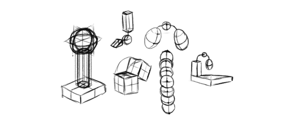 how to learn drawing simple forms perspective structures