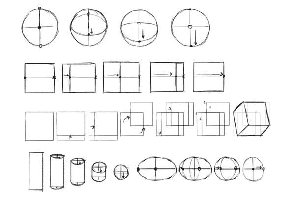 how to learn drawing simple forms perspective