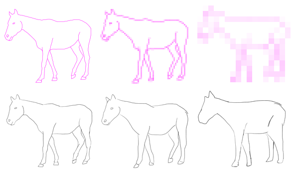 drawing from a reference line copying tracing forget lines time