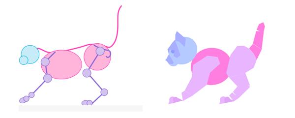 photoshop animation kitten body animal simple 13