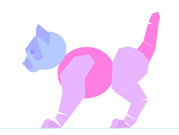 photoshop animation kitten body animal simple 18