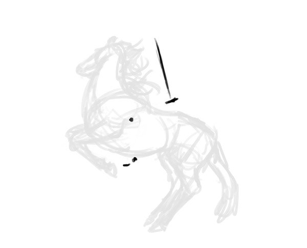 how to draw horse rider pose sitting rearing 2