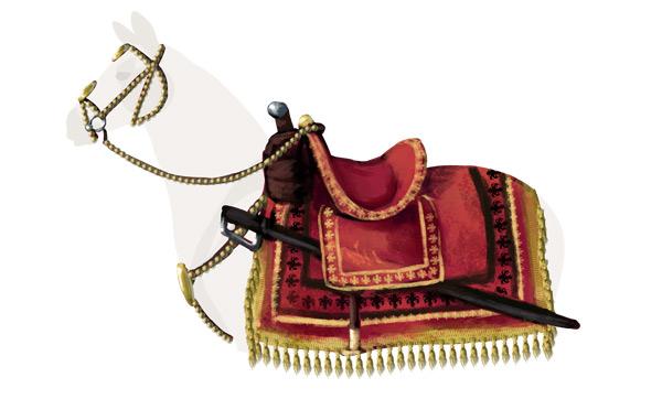 how to draw polish winged hussar horse saddle tack