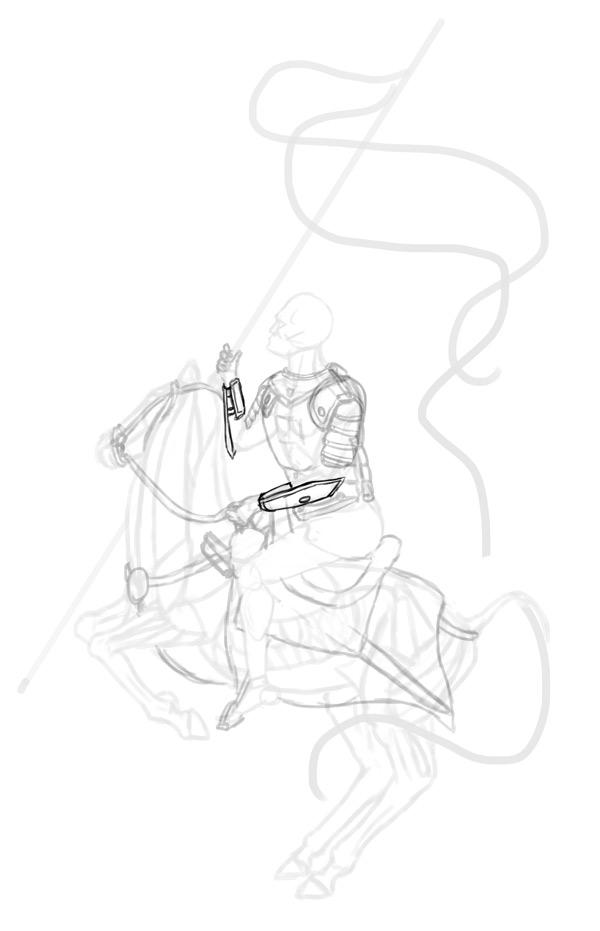 how to draw polish winged hussar cuiryss armguards 2