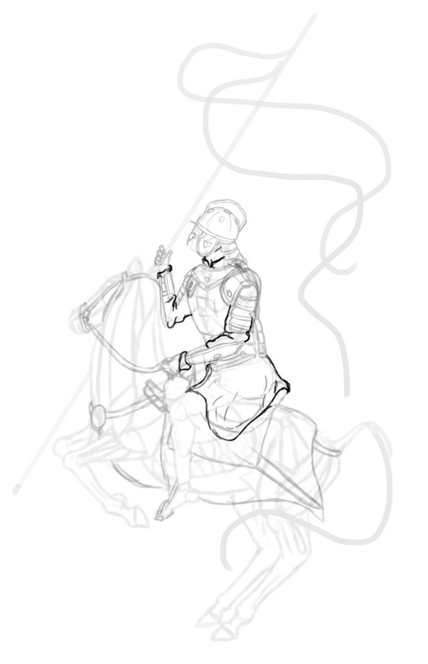 how to draw polish winged hussar tunic robe 2