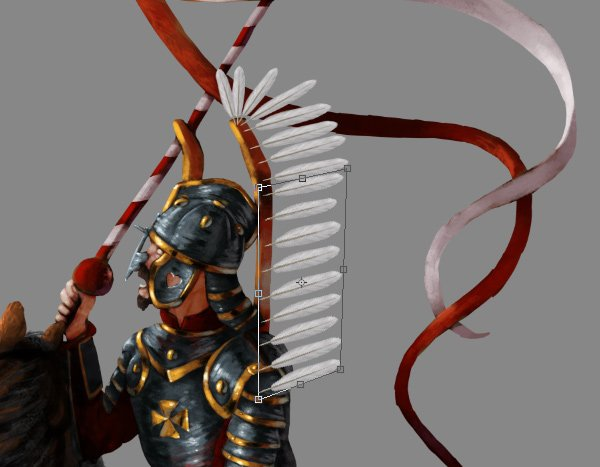how to paint draw feathers photoshop wing hussar 2