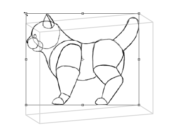 photoshop perspective simple drawing box