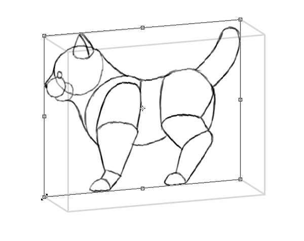 photoshop perspective simple drawing box 2
