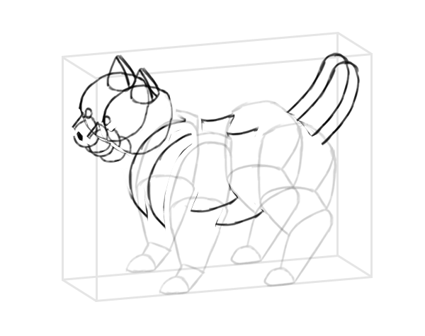 photoshop perspective simple drawing box 11