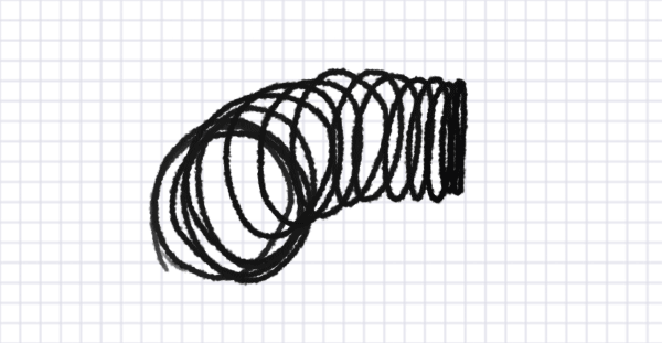 how to draw perspective coil ellipse circle 3