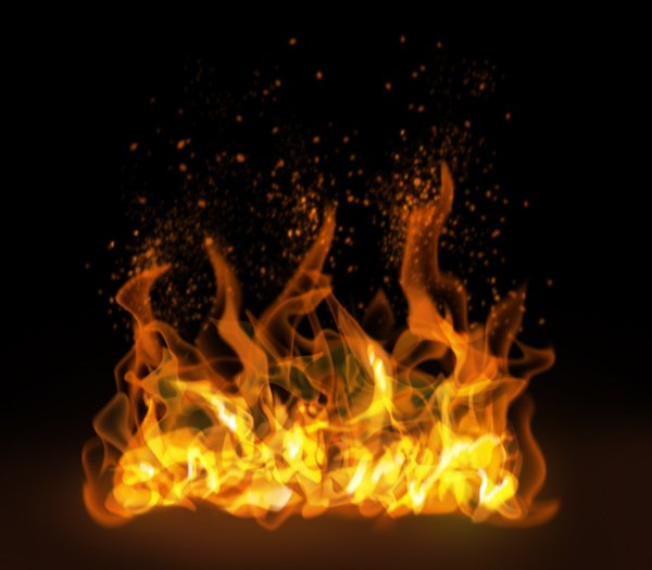 How to paint fire sparks photoshop digital 8