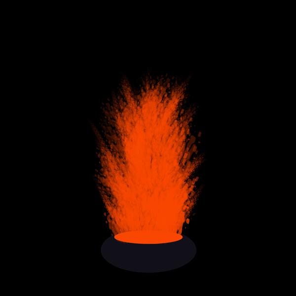 How to paint lava eruption photoshop digital 5