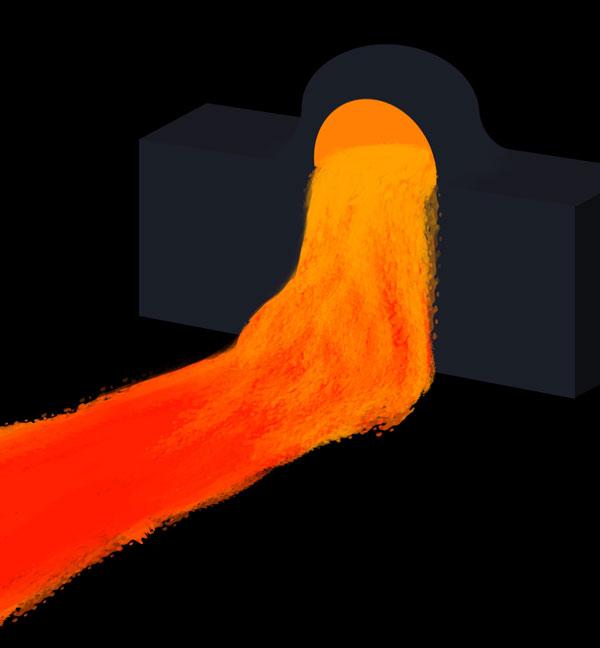 How to paint lava flow river lake photoshop digital 3