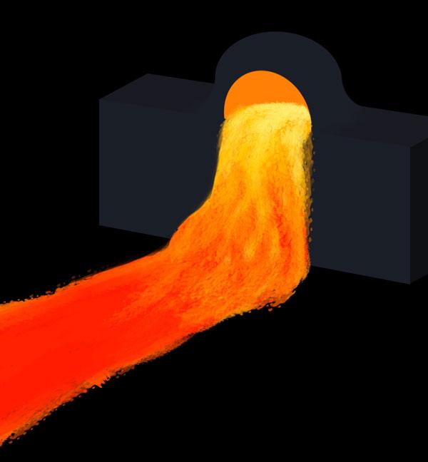 How to paint lava flow river lake photoshop digital 5