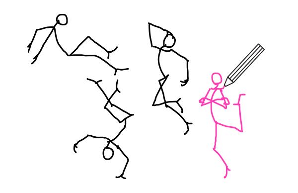 how to draw stick figure stickman tutorial arms 7