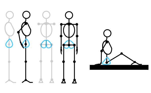how to draw stick figure stickman tutorial torso 5
