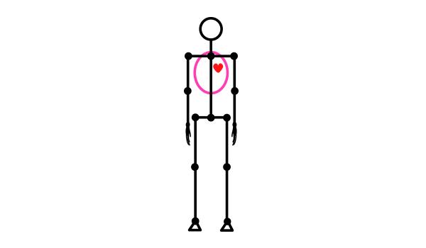 how to draw stick figure stickman tutorial torso