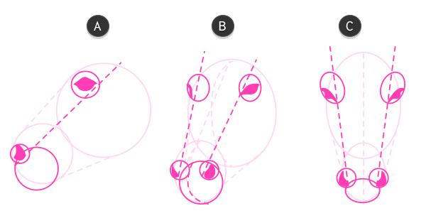 how to draw zebra head 2