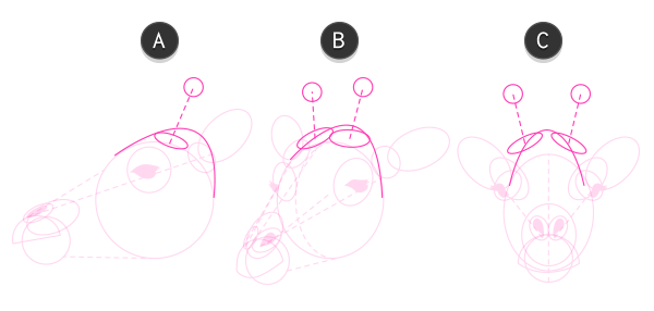 how to draw giraffe head 4