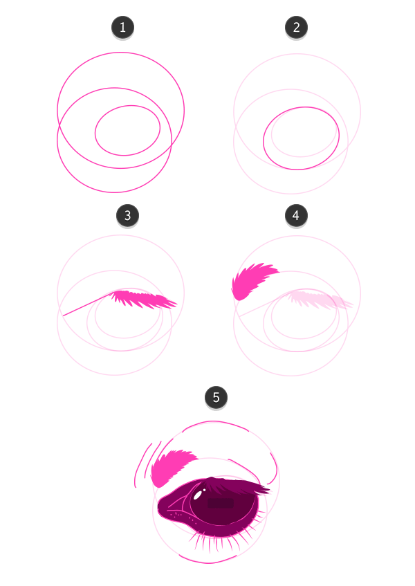 how to draw giraffe eyes