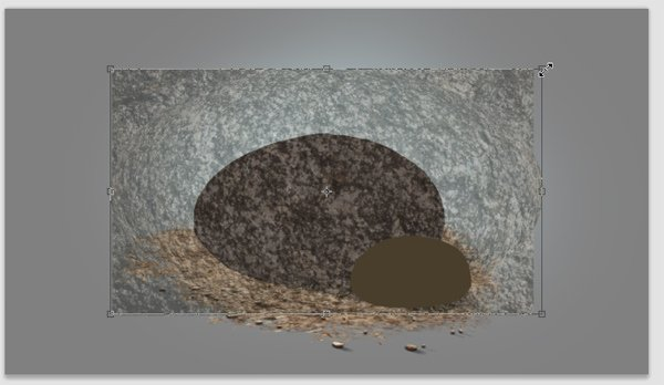 photoshop paint stone resize texture