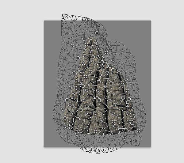 photoshop rock mountain paint adjust texture shape detailed