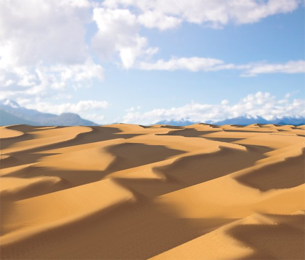 photoshop paint desert brush dune aerial perspective color done