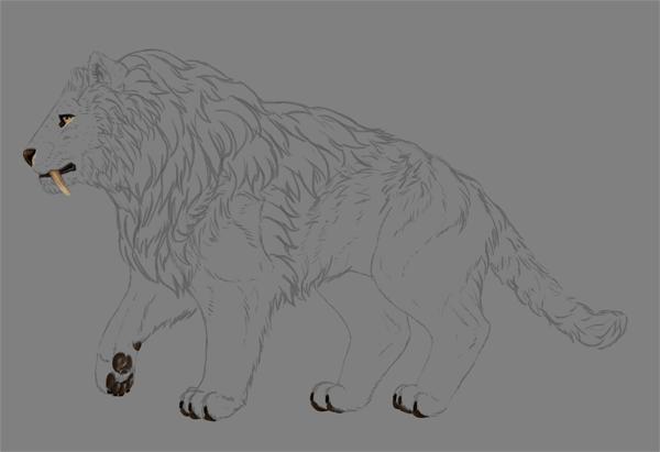 digital painting fur details