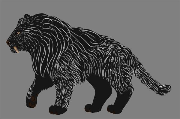 digital painting fur hair flow