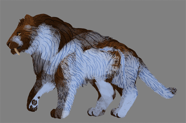 digital painting fur shadow