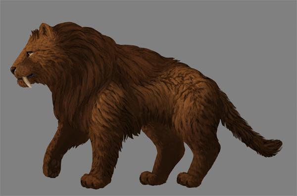 digital painting fur shading single hair