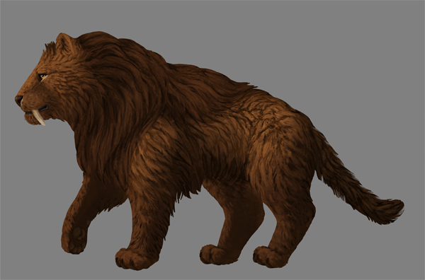 digital painting fur shading crevices