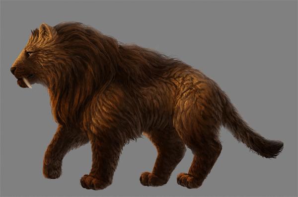 digital painting fur back light