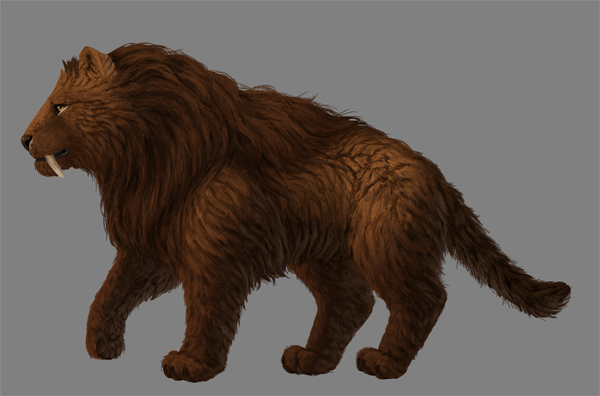 digital painting fur details hair