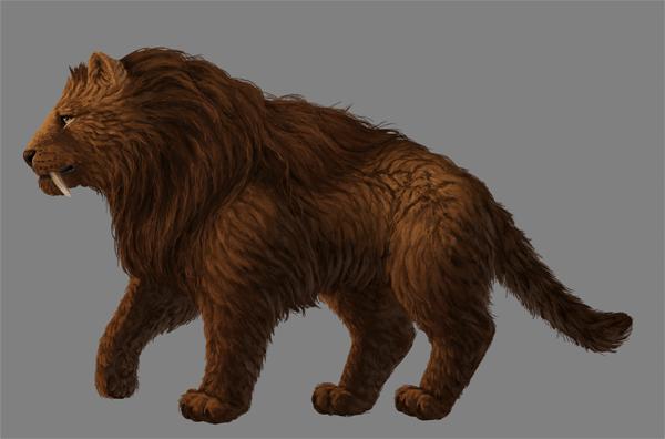 digital painting fur details head nose