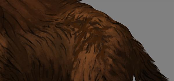 digital painting fur shading cracks sample