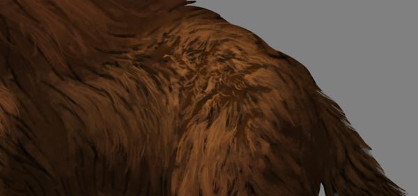 digital painting fur shading cracks blend sample