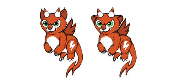 design draw mascot hard clever lighting furless