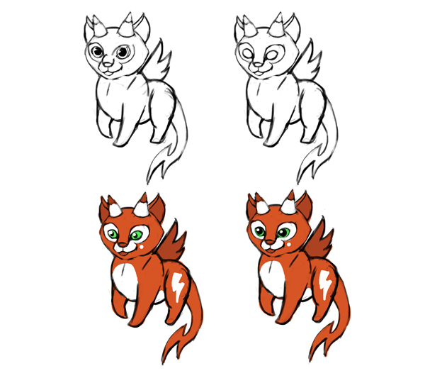 design draw mascot helpful cute smiling
