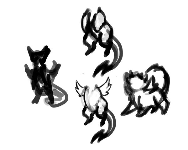 design draw mascot sketches pose