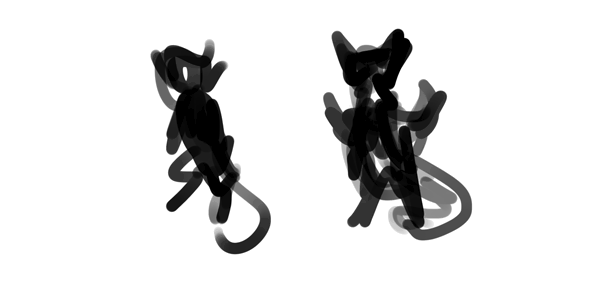 design draw mascot pose sketch simple