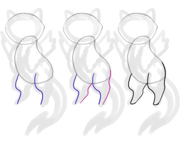 design draw mascot legs cute cat