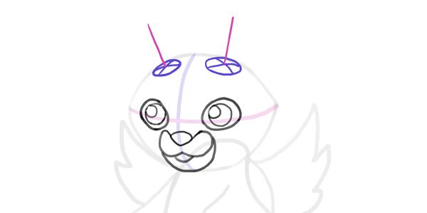 design draw mascot horns base
