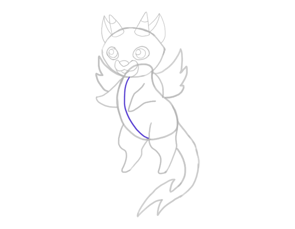 design draw mascot belly perspective