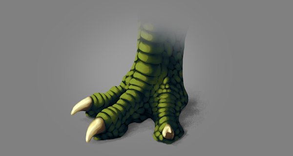 photoshop dragon claw foot warm light blended