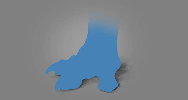 photoshop dragon claw foot blue shadow