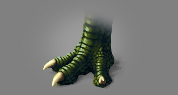photoshop dragon claw foot scales textures blended shadow textureless