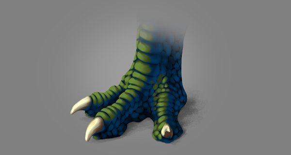 photoshop dragon claw foot blue shadow blended